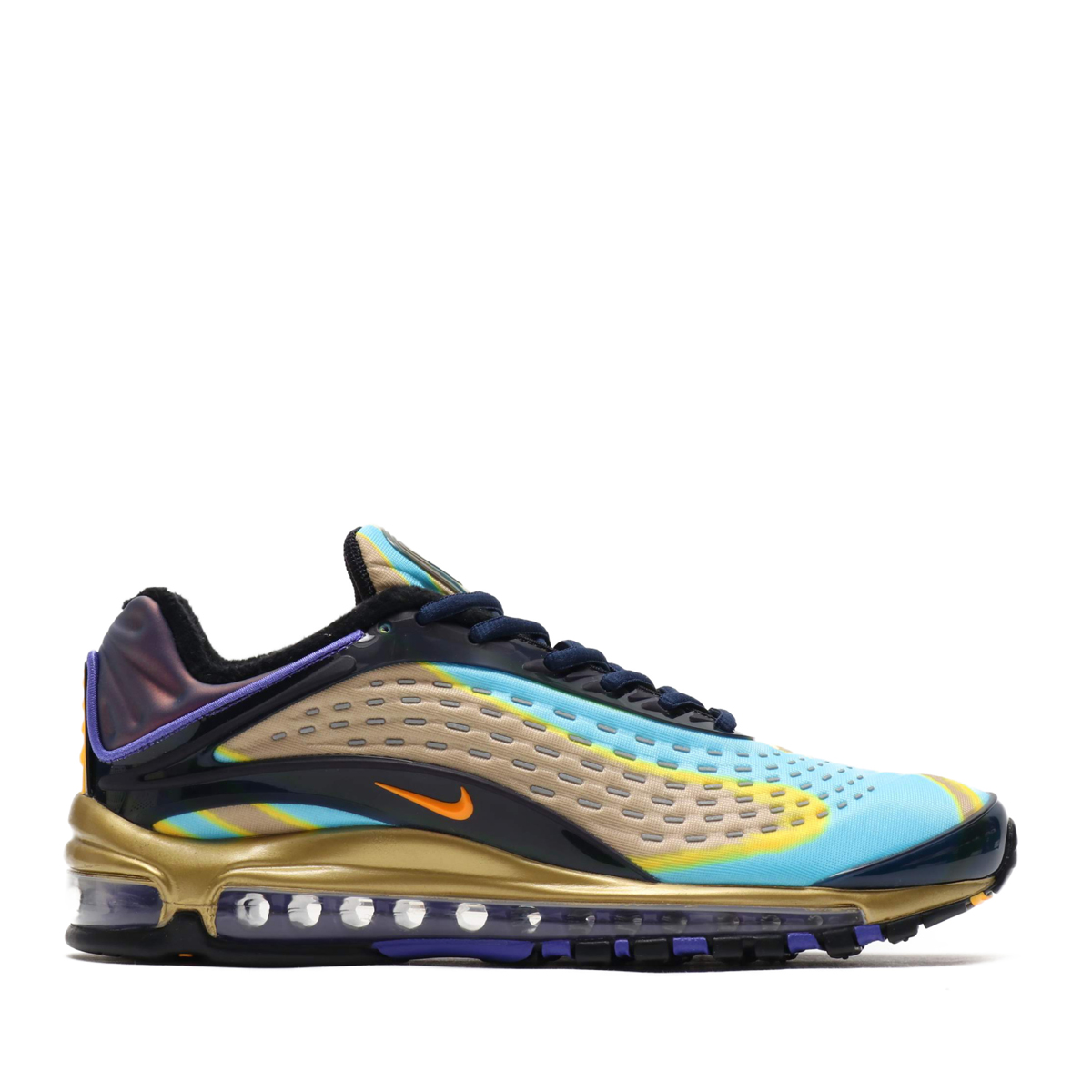 low priced 022fe e32f9 NIKE AIR MAX DELUXE (MIDNIGHT NAVY LASER ORANGE) (Kie Ney AMAX deluxe ...