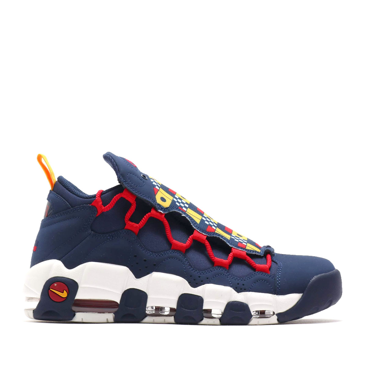 NIKE AIR MORE MONEY(MIDNIGHT NAVY/MIDNIGHT NAVY-SAIL-GYM RED)(ナイキ エア モア マニー)【メンズ】【レディース】【スニーカー】【18FA-S】