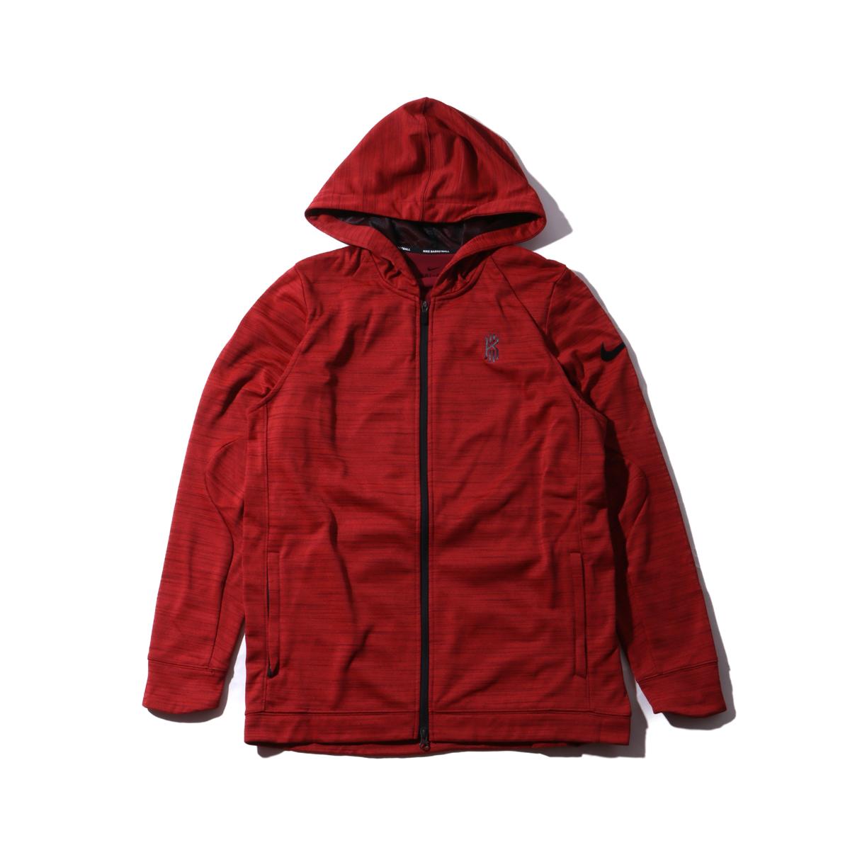 NIKE KYRIE M NK THRMA JKT HD HPRELT(RED)(ナイキ カイリー ハイパーエリート フーディ ジャケット)【メンズ】【ジャケット】【17SP-I】