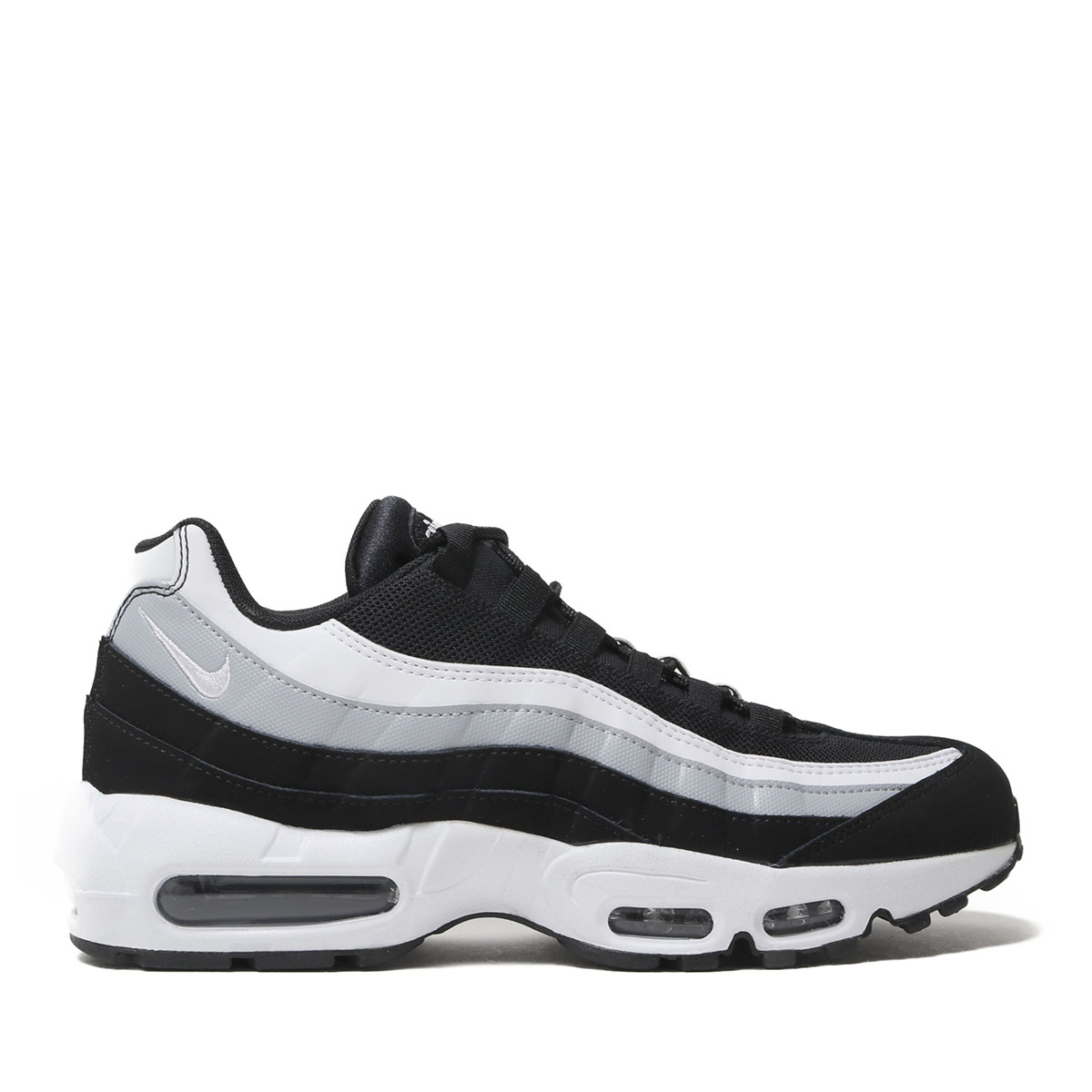 low priced b995c e5cb1 NIKE AIR MAX 95 ESSENTIAL (BLACK WHITE-WOLF GREY) (Kie Ney ...