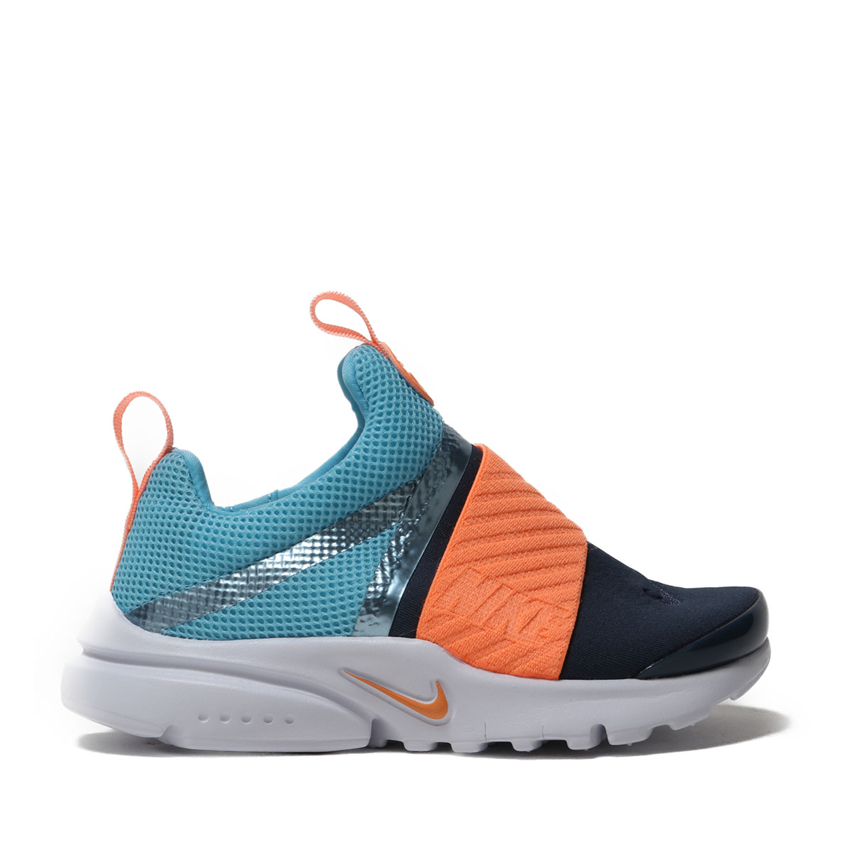 cf16988cffa3 NIKE PRESTO EXTREME (PS) (BLUE GAZE ORANGE PULSE-MONSOON BLUE) (Nike presto  extreme PS)