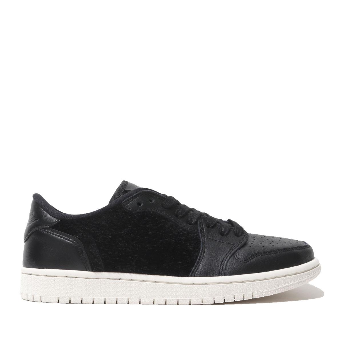 NIKE WMNS AIR JORDAN 1 RETRO LOW NS (BLACK BLACK-SAIL) (Nike women Air  Jordan 1 nostalgic low NS) e87bb1e0ae