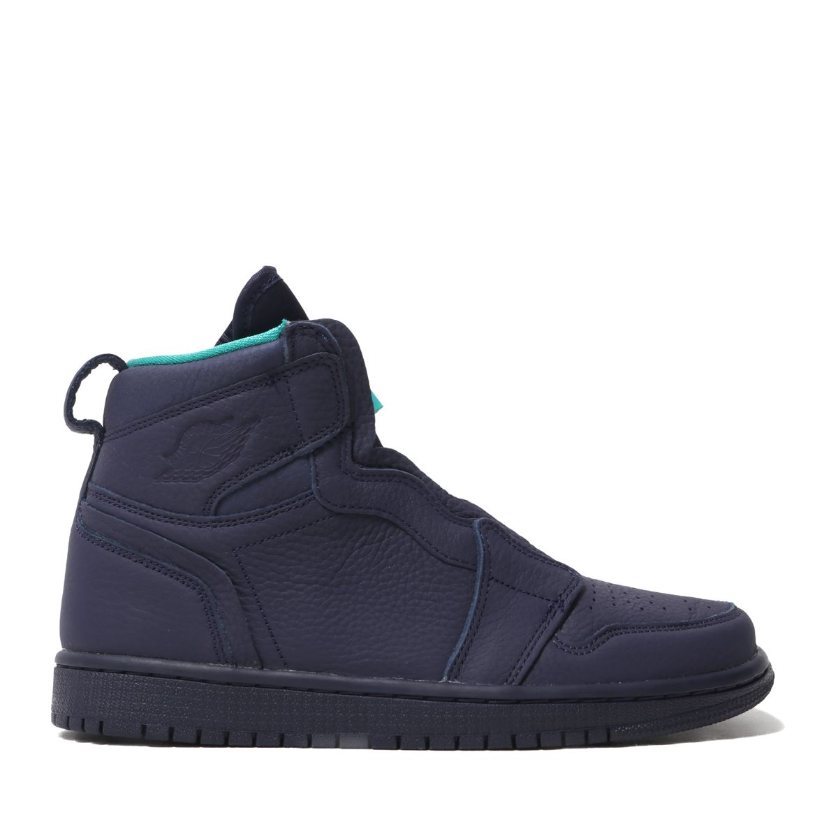 newest 070f4 cfe26 NIKE WMNS AIR JORDAN 1 HIGH ZIP (BLACKENED BLUE NEPTUNE GREEN-WHITE) ...