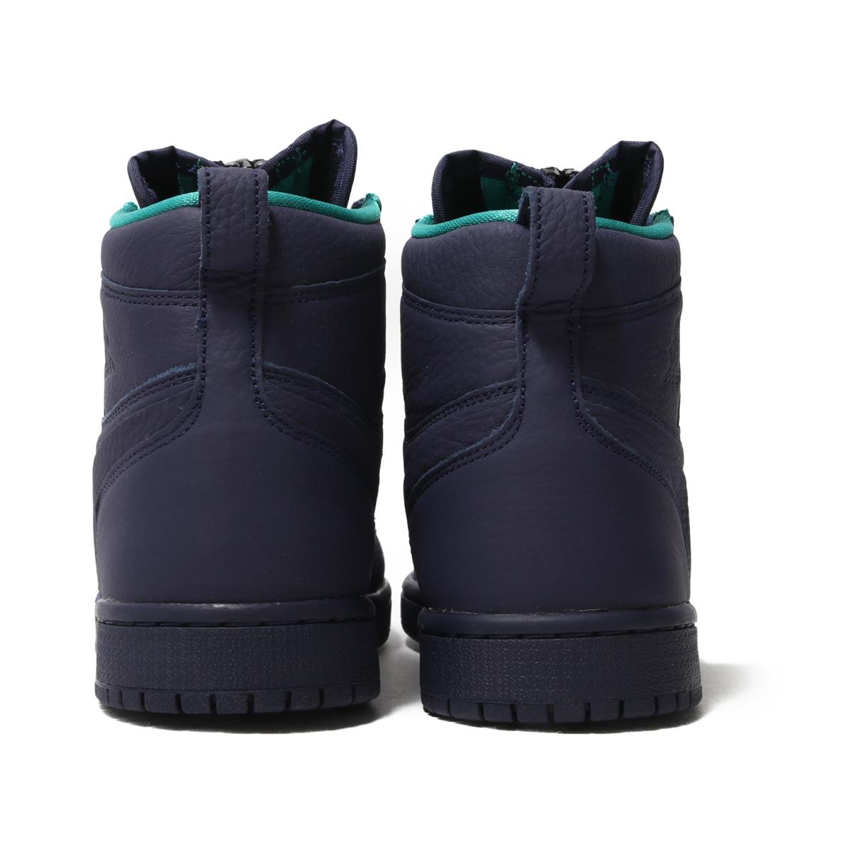 fa89a3d59343 NIKE WMNS AIR JORDAN 1 HIGH ZIP (BLACKENED BLUE NEPTUNE GREEN-WHITE) (Nike  women Air Jordan 1 high zip)