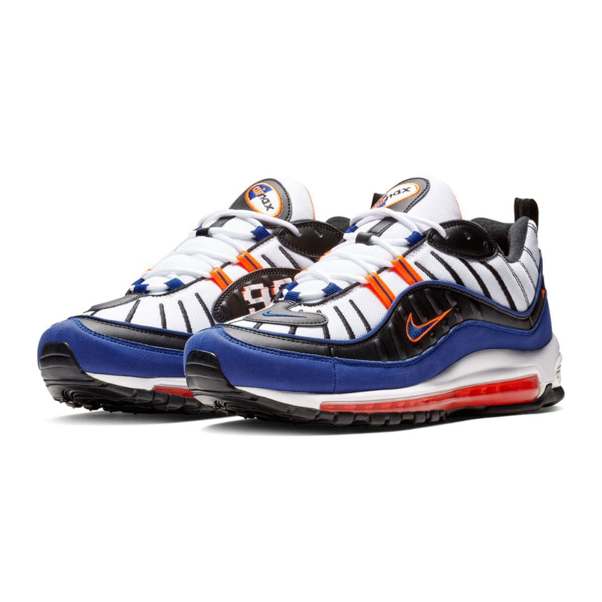 c47a9a1021 Kinetics: NIKE AIR MAX 98 (WHITE/DEEP ROYAL BLUE-TOTAL ORANGE-BLACK ...