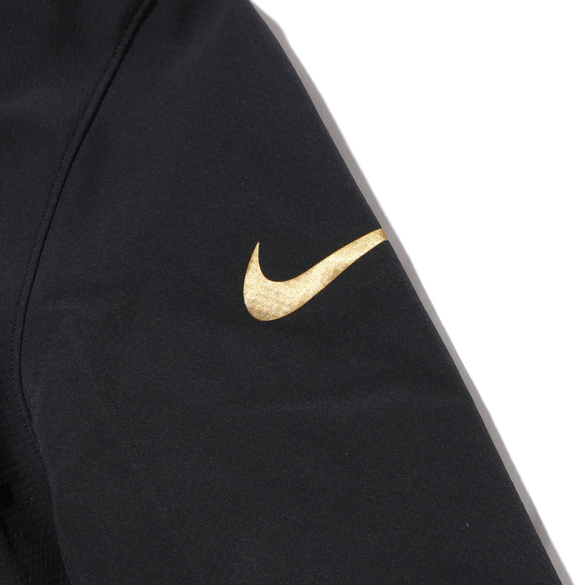 NIKE AS M NK DRY JKT MVP BHM(010-BLACK/BLACK-FLAT GOLD)(耐克BHM MVP茄克)