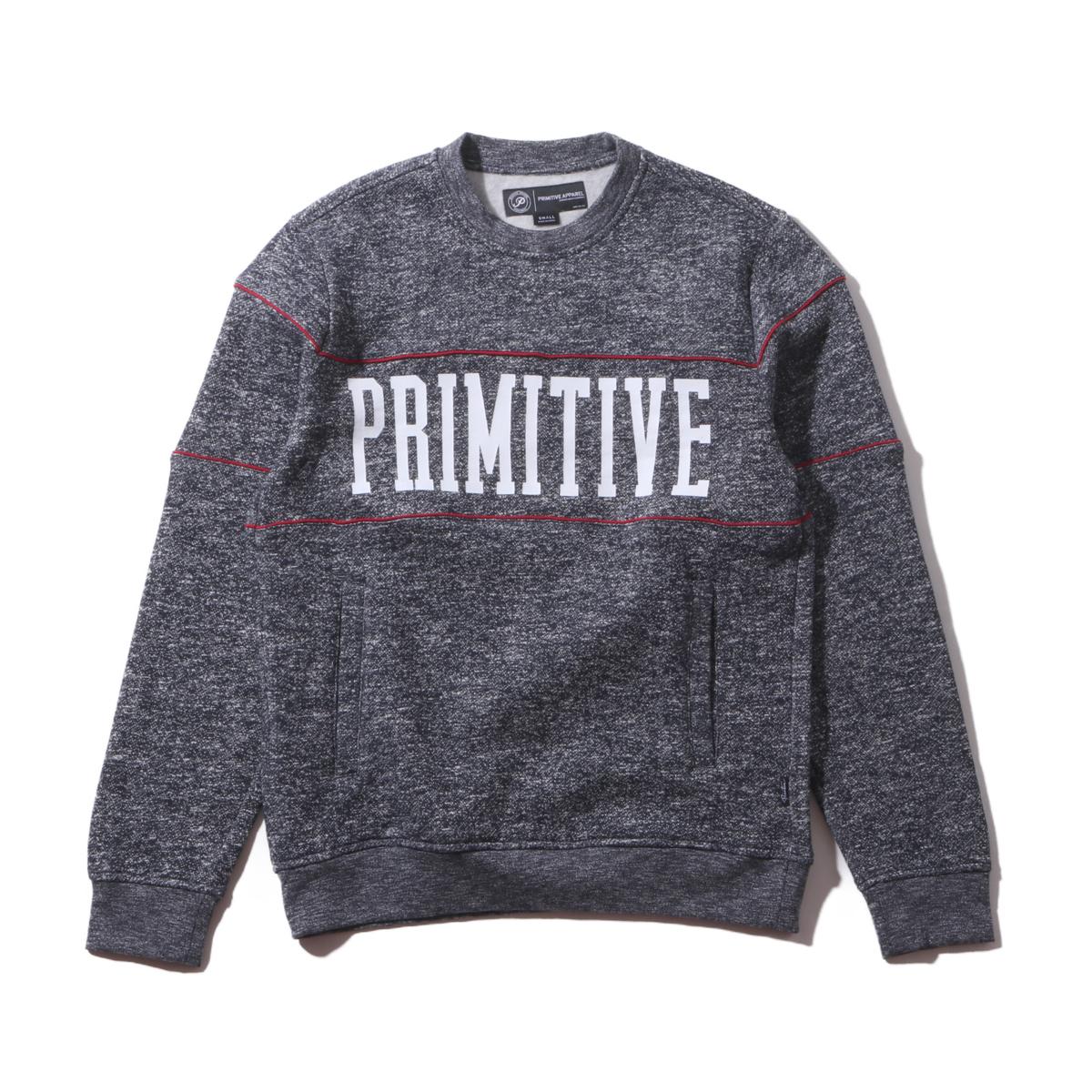 Primitive PIPED CREW (NAVY) 【トレーナー】【16FA-I】