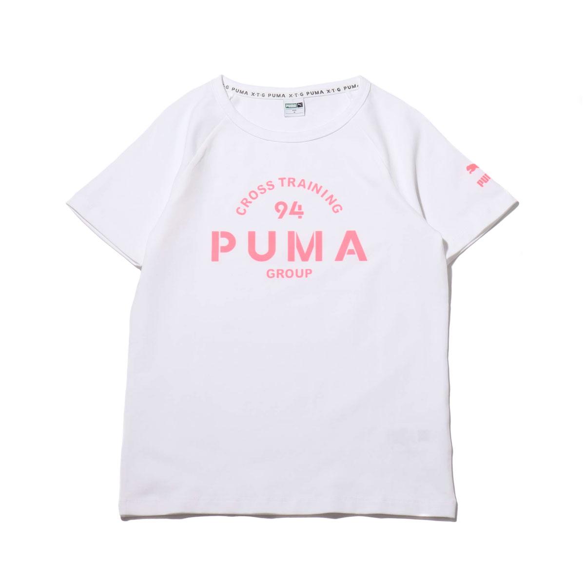 32df1387fb PUMA XTG GRAPHIC SS TEE (PUMA WHITE) (Puma XTG graphic short sleeve T-shirt)