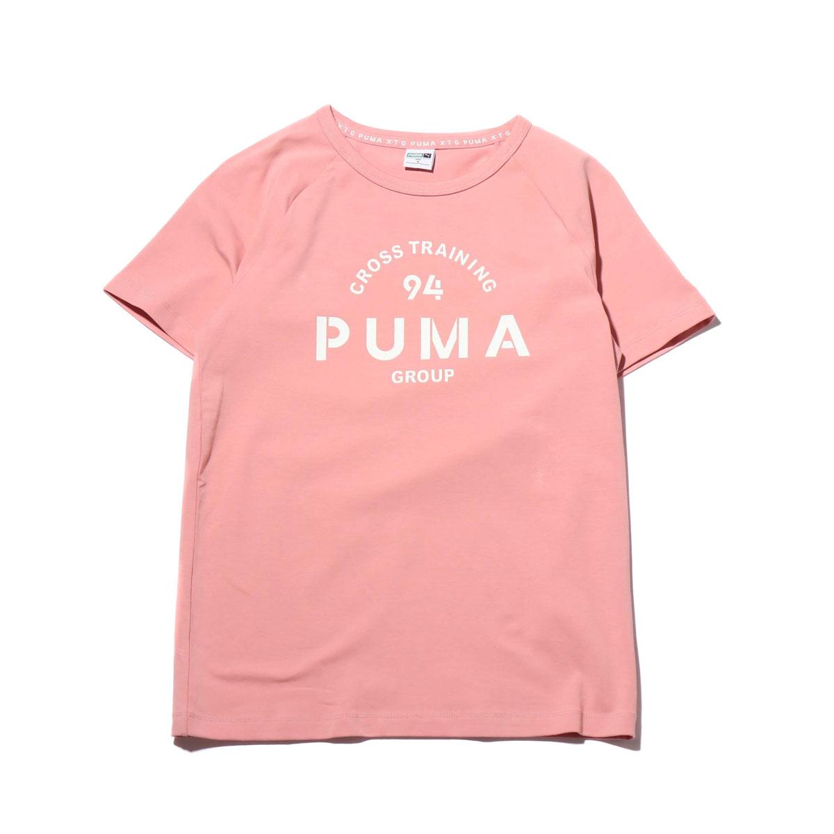 4db72853b5 PUMA XTG GRAPHIC SS TEE (BRIDAL ROSE) (Puma XTG graphic short sleeve  T-shirt)