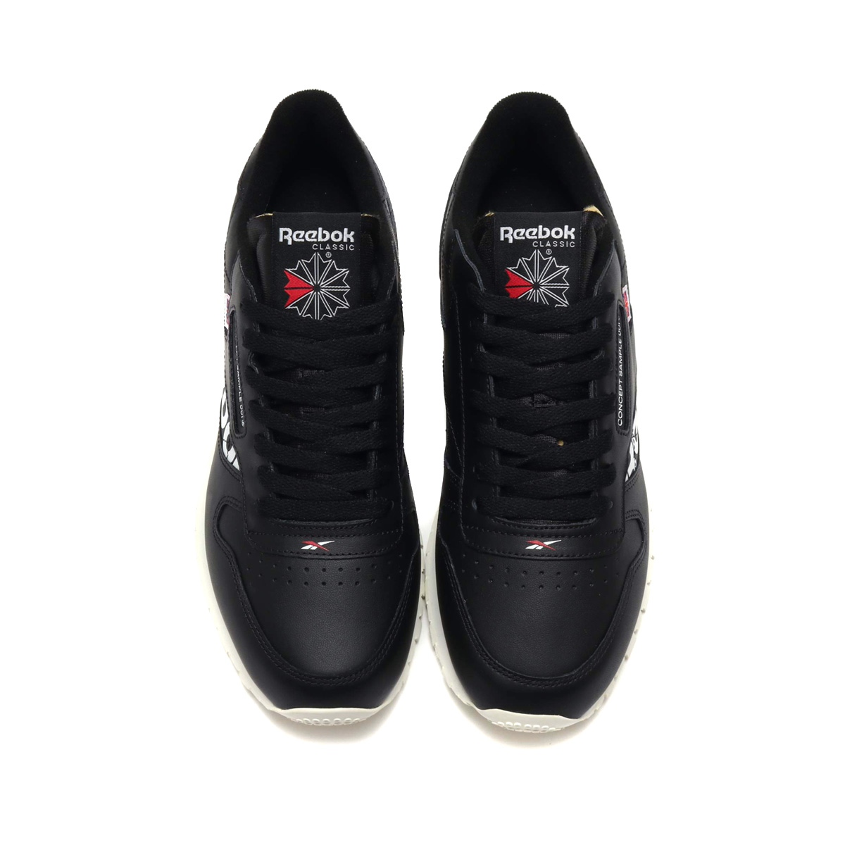 Reebok CL LEATHER ATIV (BLACK WHITE EXCELLENT RED CHALK) (Reebok classical  music leather ATIV) 1a29ee978