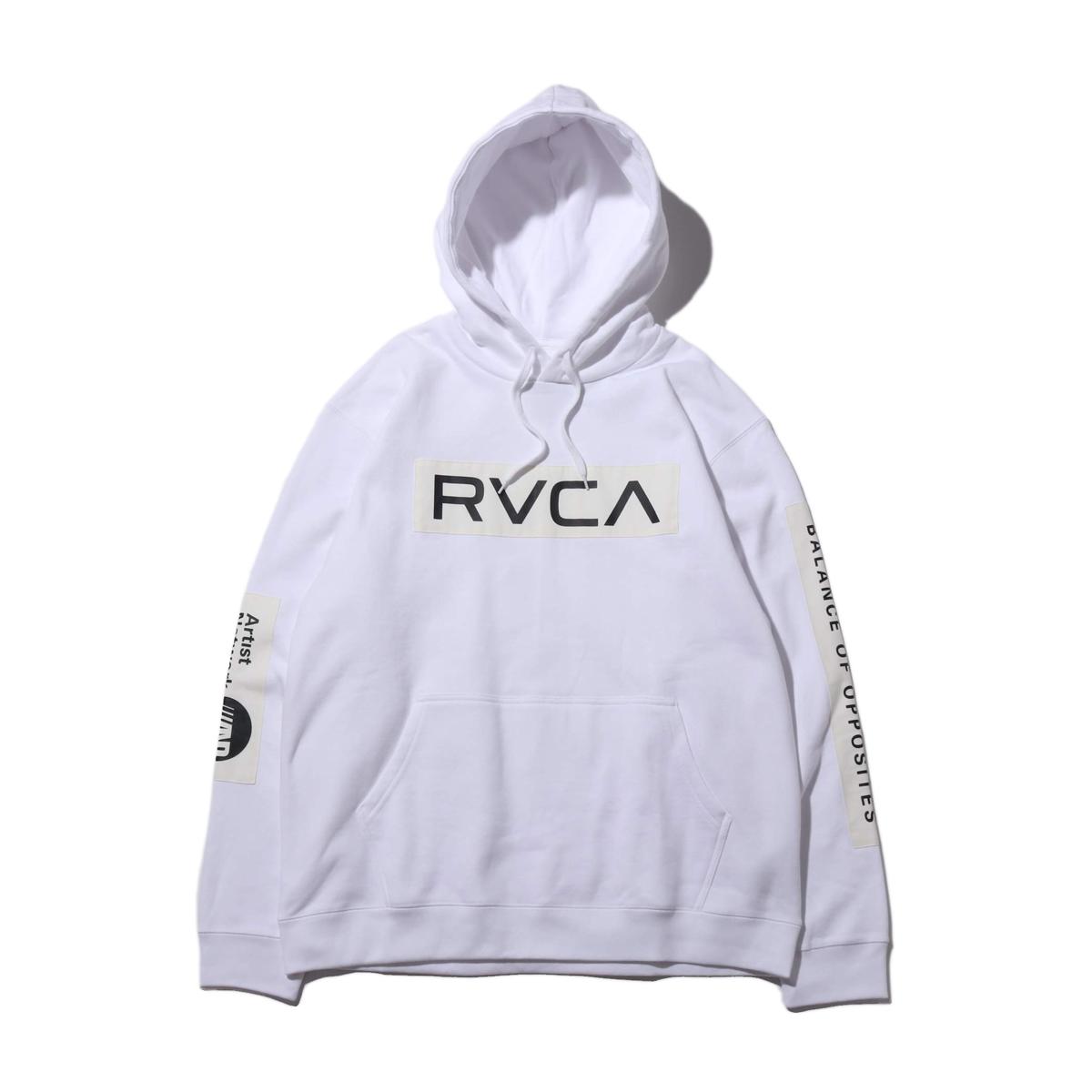 RVCA PATCH RVCA HOODIE(WHITE)(ルーカ パッチ ルーカ フーディー)【メンズ】【パーカー】【19FA-I】
