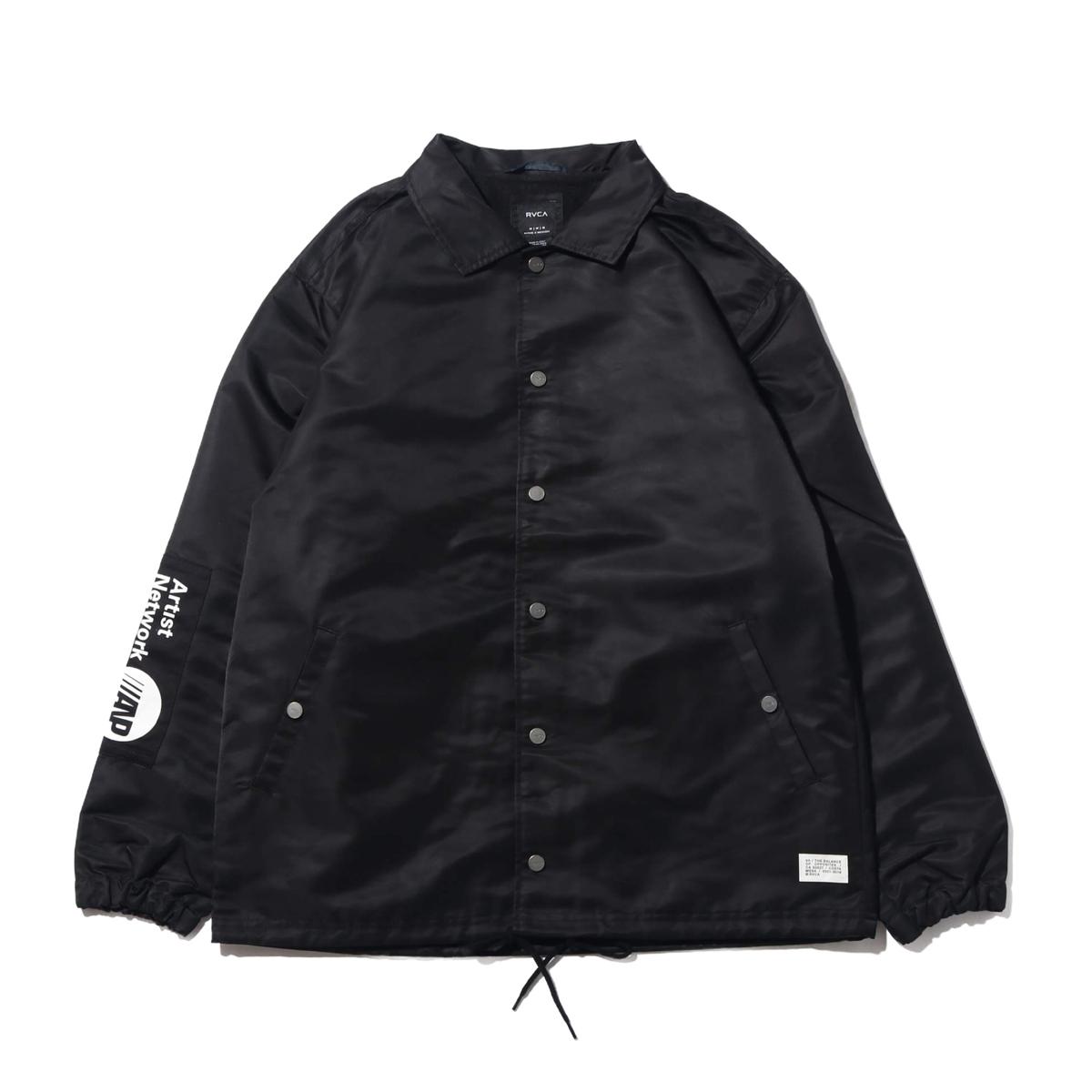 RVCA PATCH JACKET(BLACK)(ルーカ パッチ ジャケット)【メンズ】【ジャケット】【19FA-I】