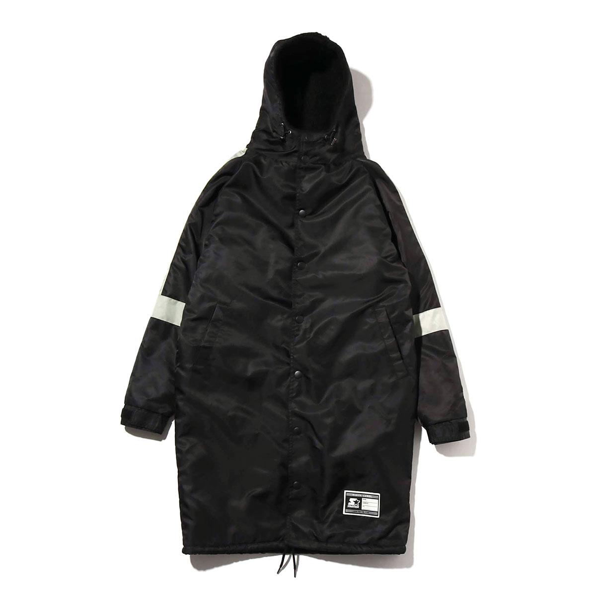 STARTER BENCH COAT(BLACK)(スターター ベンチコート)【メンズ】【コート】【18FW-I】