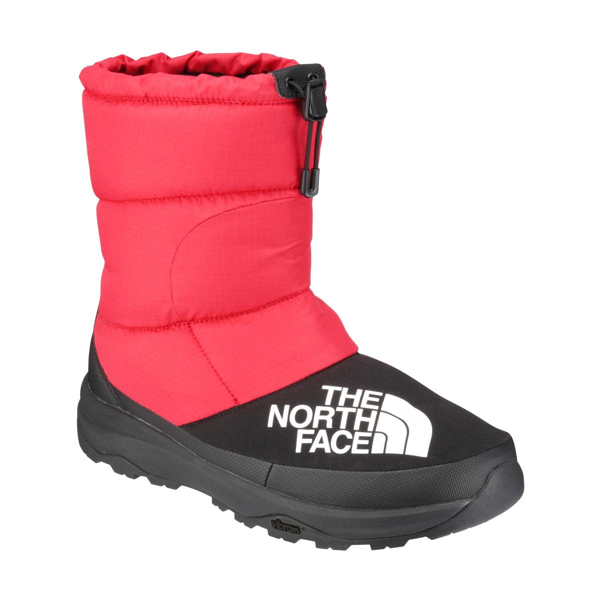 THE NORTH FACE NUPTSE DOWN BOOTIE(RK/TNFレッド x ブラック)(ザ・ノース・フェイス ヌプシ ダウン ブーティー)【メンズ】【レディース】【ブーツ】【18FW-I】