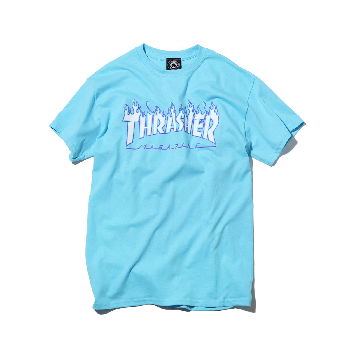52db5549db0d Kinetics  THRASHER FLAME T-SHIRTS (SKY BLUE) (slasher frame T-shirt ...
