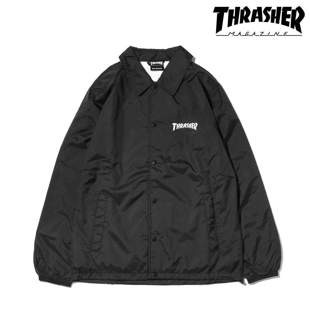 THRASHER MAG LOGO COACH JACKET (BLACK) 【メンズサイズ】【18SP-I】