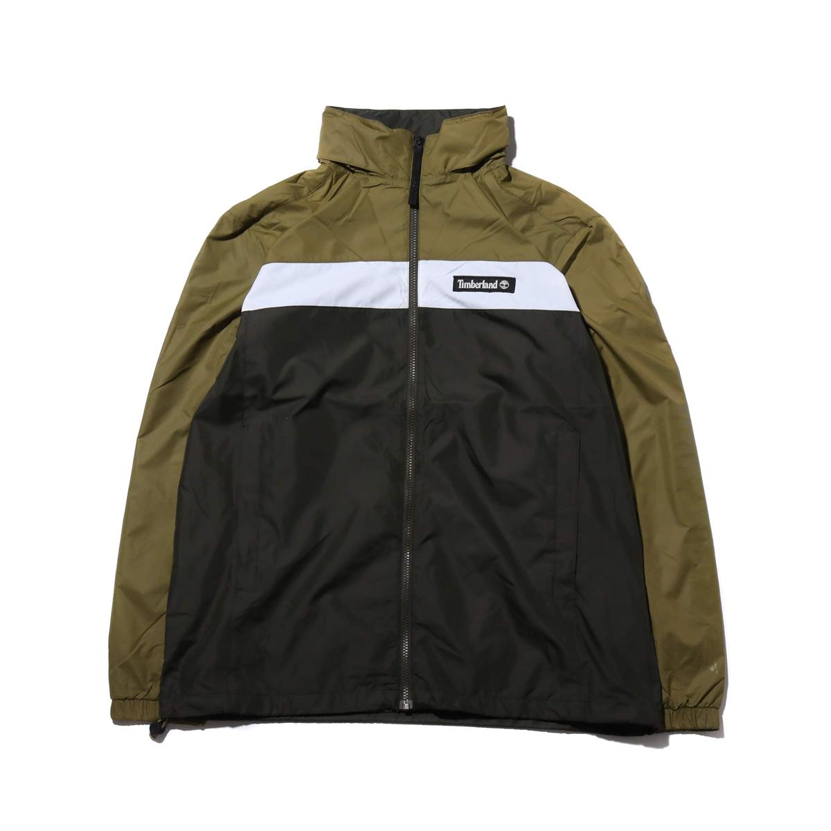 Timberland YCC Hooded full zip jacket(MARTINI OLIVE/PEAT)(ティンバーランド YCC フーデッド フルジップ ジャケット)【メンズ】【ジャケット】【19SS-I】