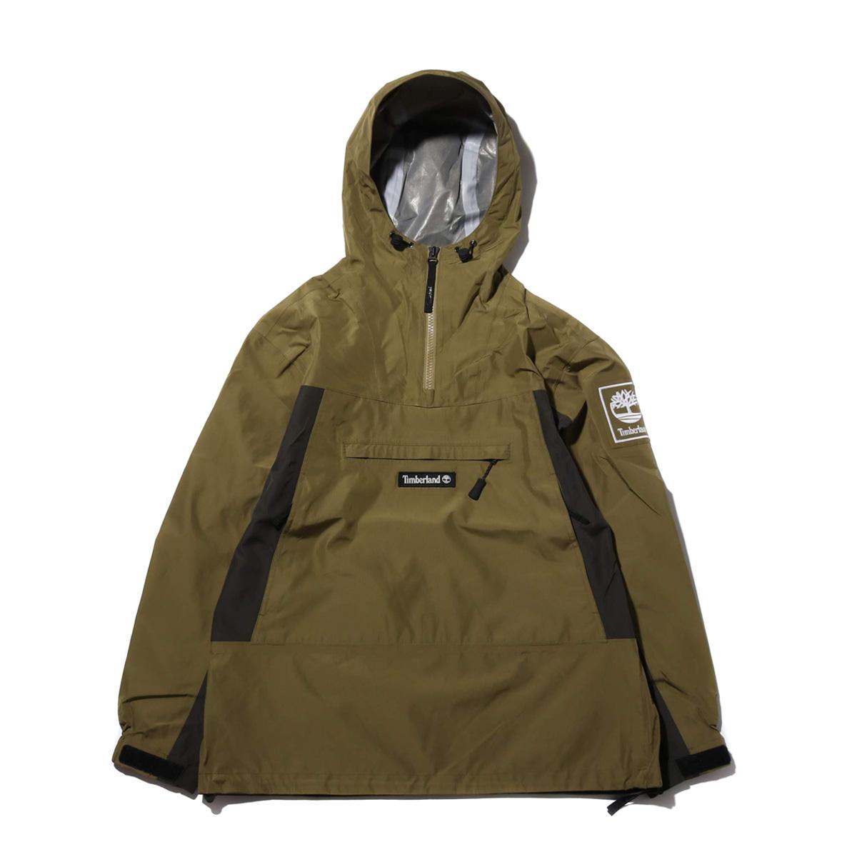 Timberland YCC Waterproof pullover(MARTINI OLIVE)(ティンバーランド YCC ウォータープルーフ プルオーバー)【メンズ】【ジャケット】【19SS-I】