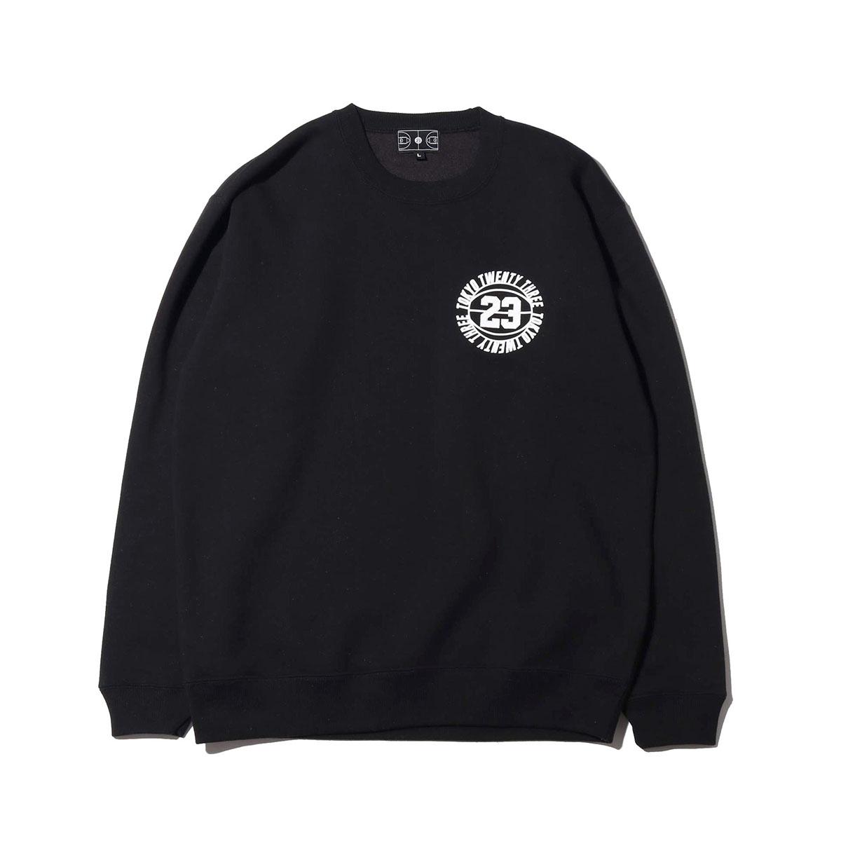 TOKYO 23 CIRCLE CREW(BLACK)(トウキョウ23 サークル クルー)【メンズ】【スウェット】【19HO-I】