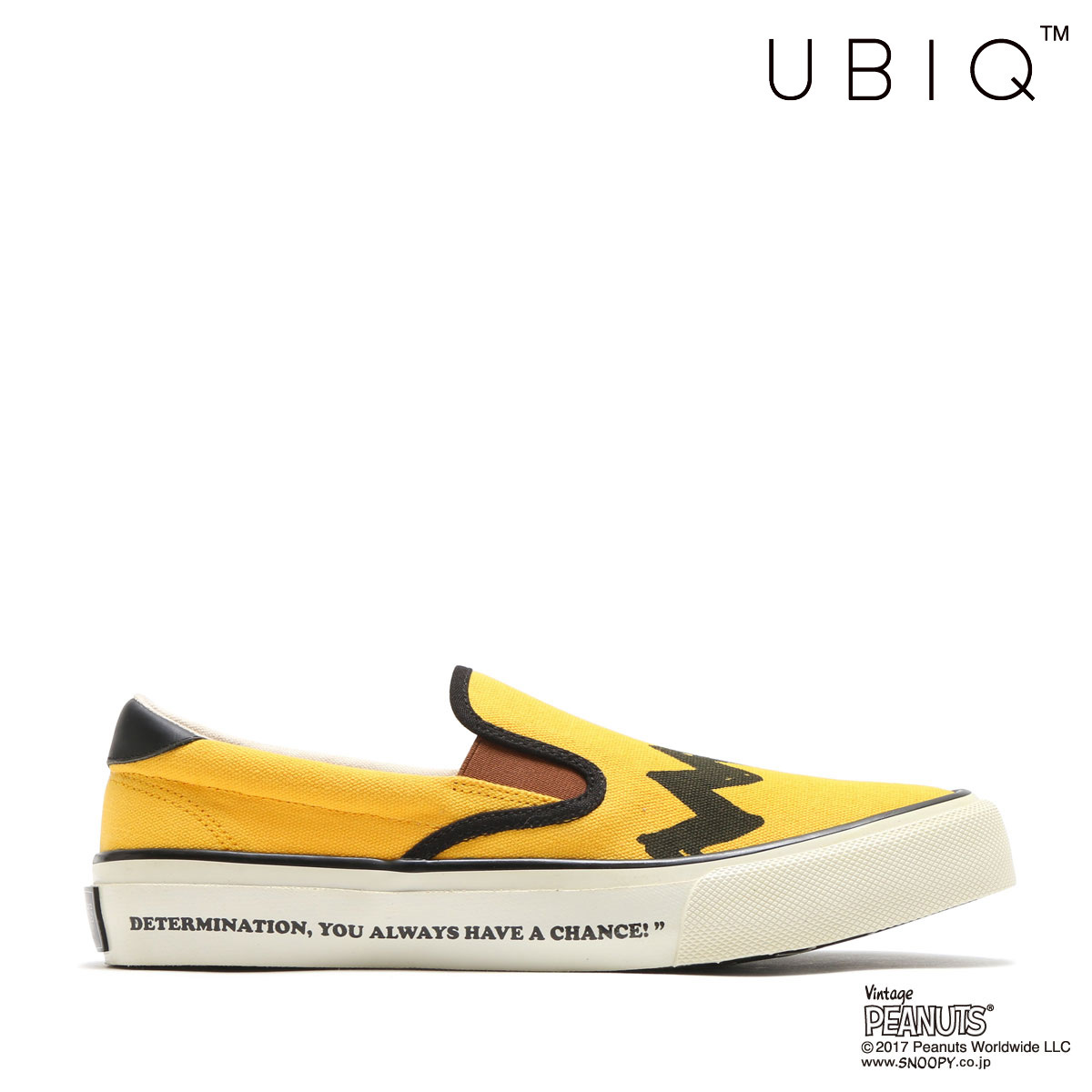 UBIQ HOGGE PEANUTS_CB(YELLOW)(ユービック ホッジ ピーナッツ チャーリーブラウン)【メンズ】【レディース】【スニーカー】【17FA-I】