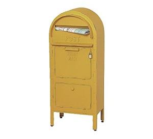 【送料無料】アメリカンポスト イエロー 郵便受け アメリカン クラッシック アンティーク ヴィンテージ ※キャンセル不可商品です