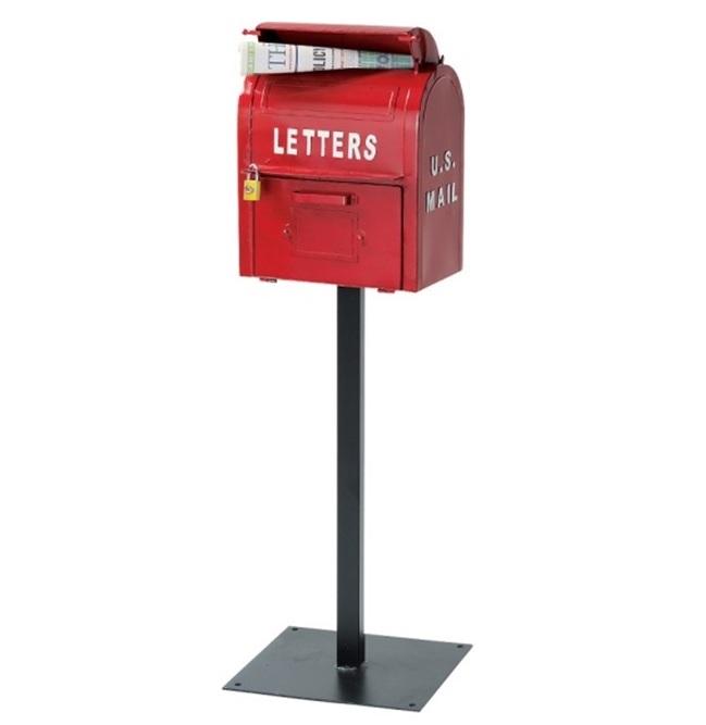 【クーポン最大600円OFF!】U.S.MAIL BOX(レッド)ポスト SI-2855 郵便受け アメリカン ※キャンセル不可商品【送料無料】