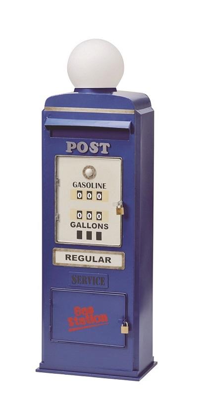 【送料無料】スタンドポスト(GAS PUMP) ブルー アンティーク ヴィンテージ ※キャンセル不可商品です