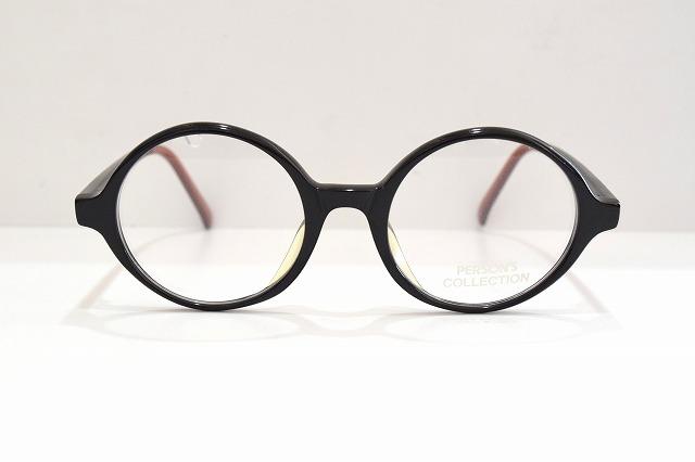 PERSON'S KID'S(パーソンズ)7209 col.1ヴィンテージメガネフレーム新品めがね眼鏡サングラスラウンド黒ぶちメンズレディース