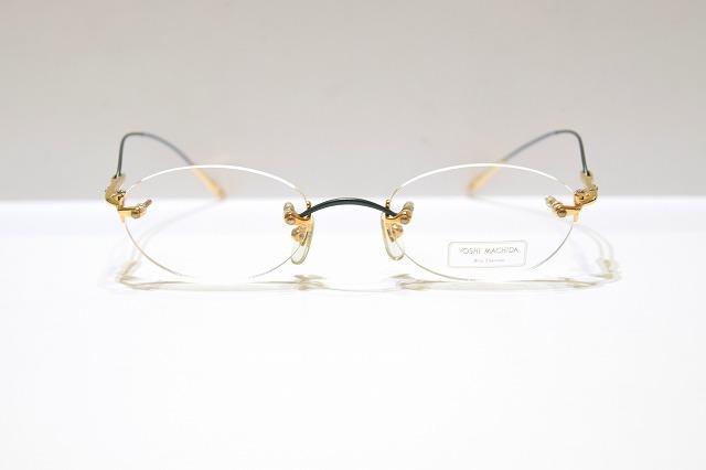 YOSHI MACHIDA 町田義信 大幅にプライスダウン Y-06 col.GRヴィンテージメガネフレーム新品めがね眼鏡サングラスふちなしメンズレディース 新着