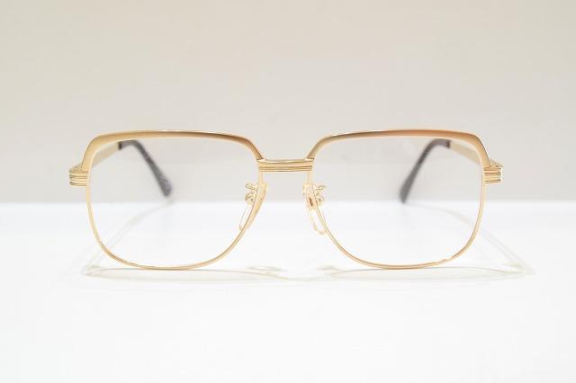 OEM No.370 col.GPヴィンテージメガネフレーム新品めがね眼鏡サングラスコンチネンタル型サーモントメンズ紳士男性用 贈答 入手困難