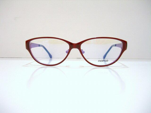 noegoノーエゴfaience 4 メガネフレーム新品エポキシ樹脂メガネフレーム眼鏡赤めがねめがね 眼鏡 サングラス