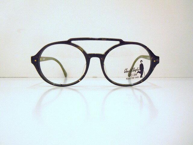 Chaplin(チャールズチャップリン)CC-39 col.2F3ヴィンテージメガネフレーム新品丸めがね眼鏡コレクターズ