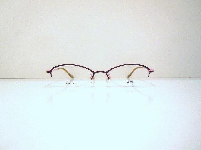 core(コア)CR-03 メガネフレーム新品めがね鯖江眼鏡チタン老眼鏡バイカラーサングラスTi-feelメンズレディース