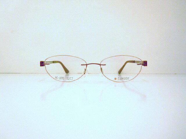 COMODO(コモド)NC-200 col.3メガネフレーム新品めがね眼鏡ふちなしツーポイント