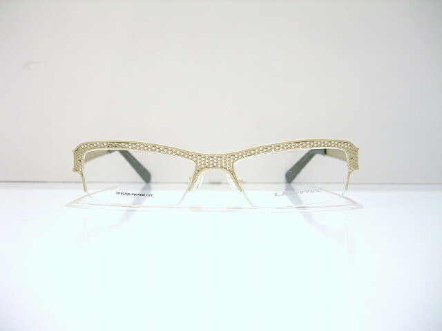 DERAPAGE(デラパージュ) HONEY COMB 7 col.320SV メガネフレーム新品 めがね 眼鏡 サングラス イタリア製