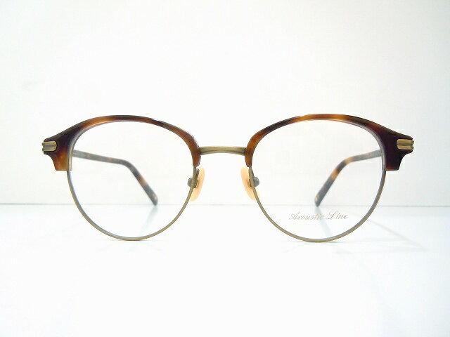 Acoustic Line(アコースティックライン)AL-002 col.ATG メガネフレーム新品 めがね  眼鏡 サングラス ブロー アンティーク
