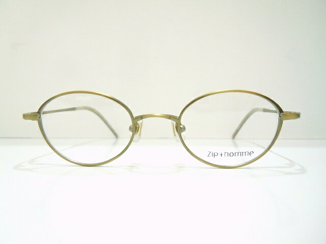 Zip+homme(ジップオム)Z-0094 メガネフレーム新品 めがね 眼鏡 サングラス ボストン ヴィンテージ クラシック アンティーク
