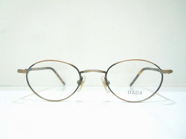 BADA BL-1391 ヴィンテージメガネフレーム新品 めがね 眼鏡 サングラス バダ ボストン型 ブロンズ べっ甲柄 クラシック