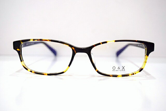 O&X NEWYORK OP-J40 メガネフレーム新品 めがね 眼鏡 サングラス 手作り べっ甲柄 プレゼント 男女兼用