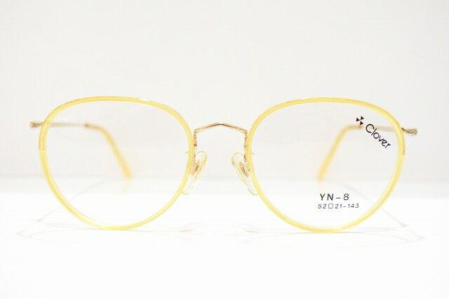 超爆安 Clover(クローバー)YN-8 col.2メガネフレーム新品 ボストン めがね 眼鏡 サングラス ヴィンテージ べっ甲柄, ホームセンターヤマキシ 975f7a22