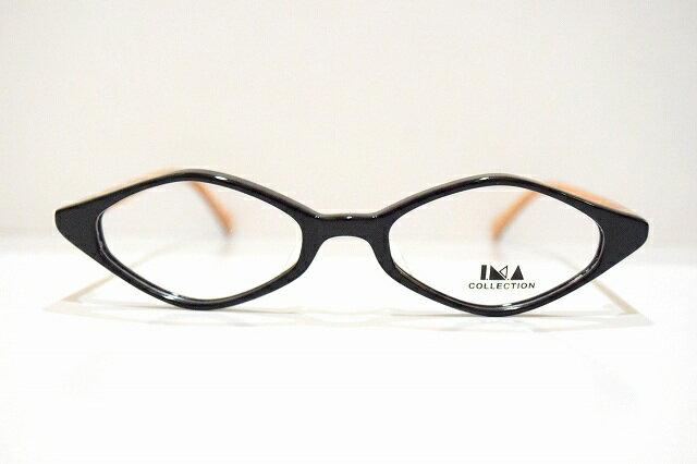 IMA COLLECTION(イマコレクション)3-8 col.90メガネフレーム新品 めがね 眼鏡 サングラス ひし形 ヴィンテージ 手作り