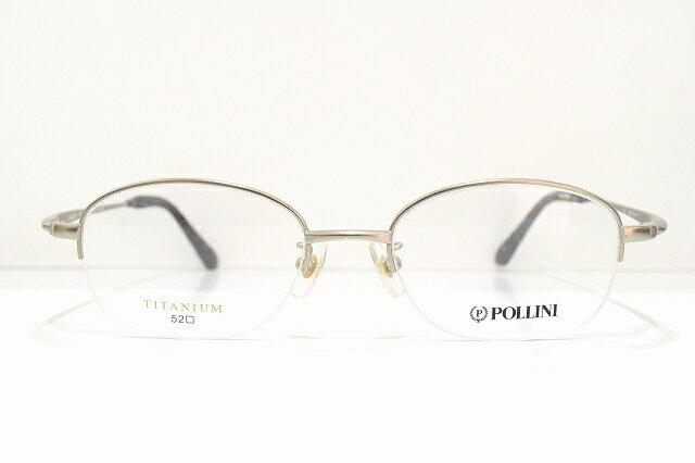 POLLINI(ポリーニ)PO-1032 メガネフレーム新品 日本製 めがね 眼鏡 サングラス 靴 紳士用 遠近 近視 老眼