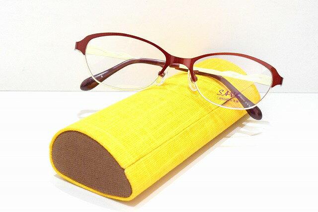 SAV-fu(サヴフ)SA-6215 メガネフレーム新品 めがね 眼鏡 サングラス 手作り 鯖江 職人 レディス 可愛い