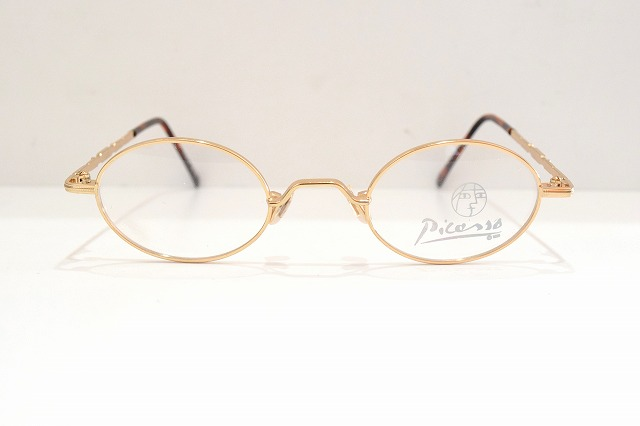 Picasso(ピカソ)P-1012 col.18KGPめがね眼鏡サングラスヴィンテージメガネフレーム新品金メッキメンズレディース