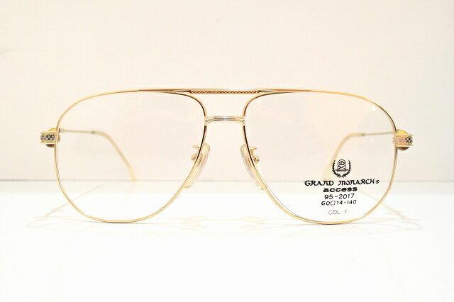 GRAND MONARCH(グランドモナーク)95-2017 ヴィンテージメガネフレーム新品 めがね 眼鏡 サングラス ゴルフクラブ