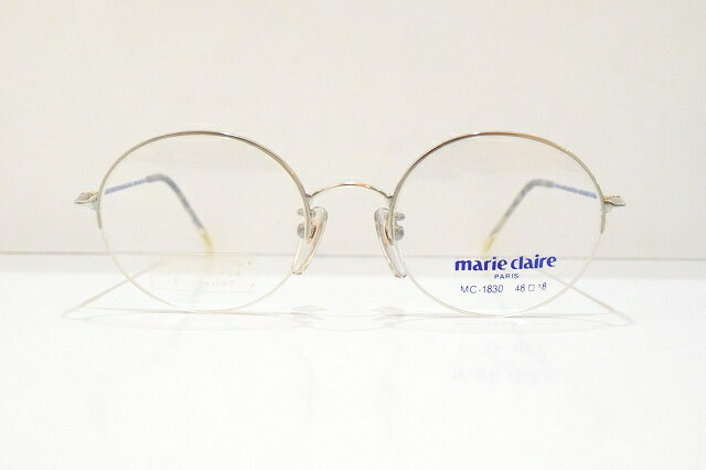 marie claire(マリクレール)MC-1830 ラウンド型メガネフレーム新品 めがね 眼鏡 サングラス 丸型 可愛い
