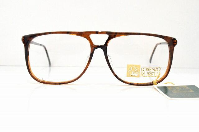 LORENZO RUBELLI(ロレンツォ・ルベリ)R-362 フローブラウン ヴィンテージメガネフレーム新品 めがね 眼鏡 サングラス