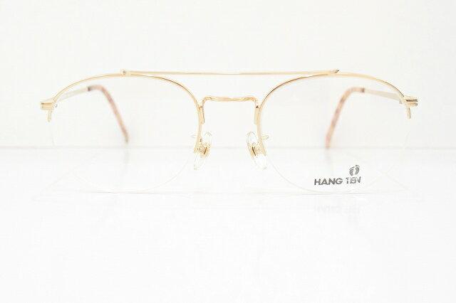 HANG TEN(ハンテン)HT-8127 ヴィンテージメガネフレーム新品 めがね 眼鏡 サングラスツーブリッジmen'sおしゃれ