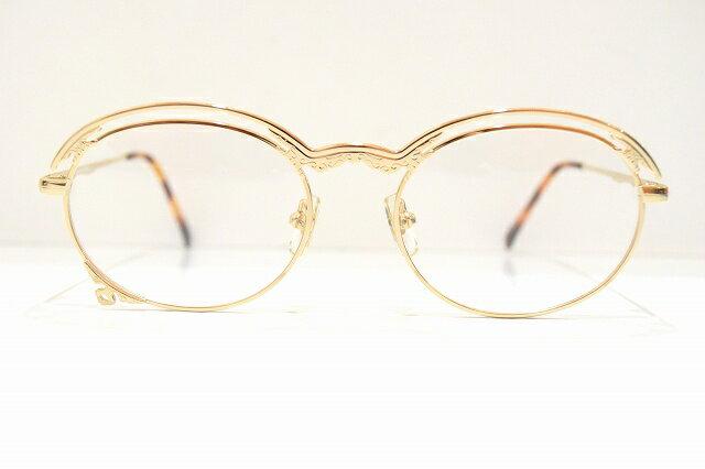 Lunetta BADA(ルネッタバダ)044 ヴィンテージサングラス新品 めがね 眼鏡 サングラスゴールド彫金 クラシックコレクター
