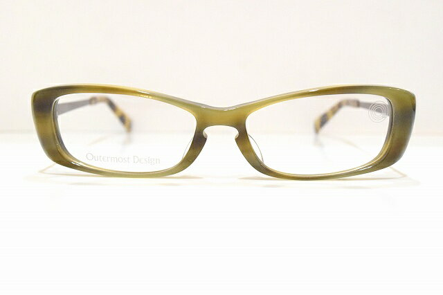 Outermost DesignOMD-002 col.355メガネフレーム新品鯖江眼鏡めがね サングラスクローバーClover 皇室 職人手作り